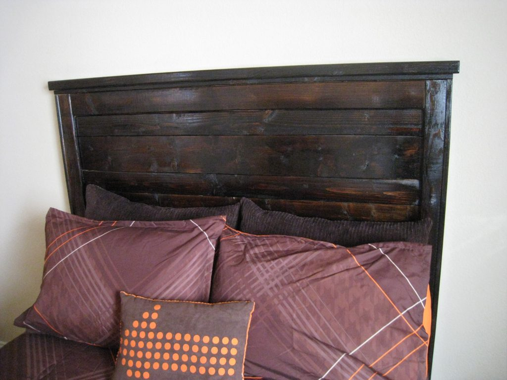 DIY Headboard Shanty 2 Chic. Full resolution‎  picture, nominally Width 2592 Height 1944 pixels, picture with #A64E25.