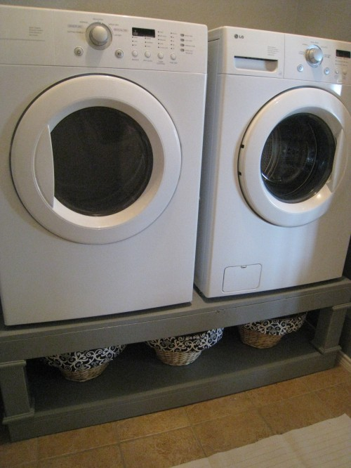 Washer and Dryer Pedestal Reveal - Shanty 2 Chic