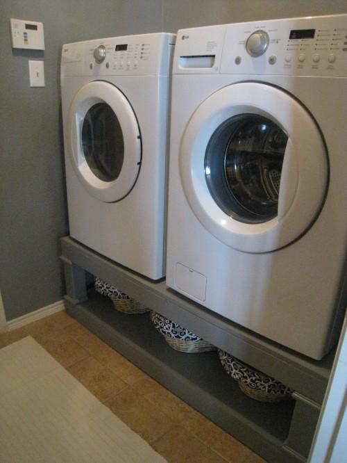 washer and dryer pedestal reveal shanty 2 chic. Black Bedroom Furniture Sets. Home Design Ideas