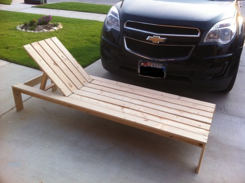 How To Make A Wooden Chaise Lounge Chair