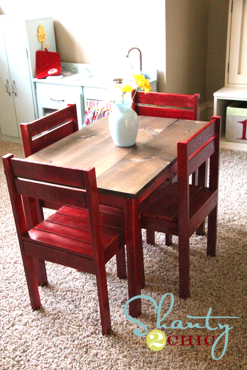 PDF DIY How To Build A Kids Table And Chairs Download gun