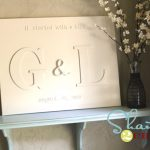 Monogram Chipboard Canvas