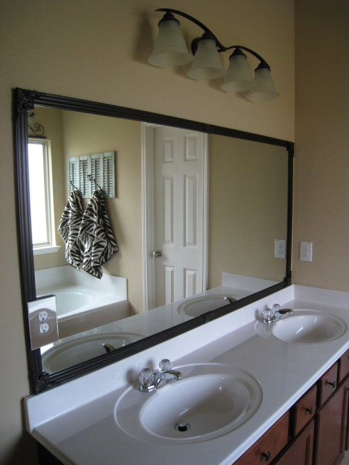 frame around mirror in bathroom cheap bathroom mirror frame shanty 2 chic 23193