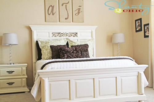 Painting bedroom furniture shanty 2 chic for Headboard and dresser