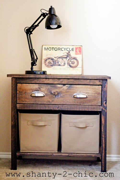 Farmhouse Night Stand For A Boys Room Shanty 2 Chic