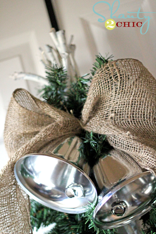 Pottery Barn Inspired Silver Bells Swag Shanty 2 Chic