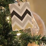 DIY Chevron Christmas Ornaments