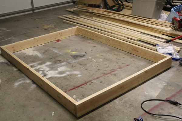 plans building a platform bed frame