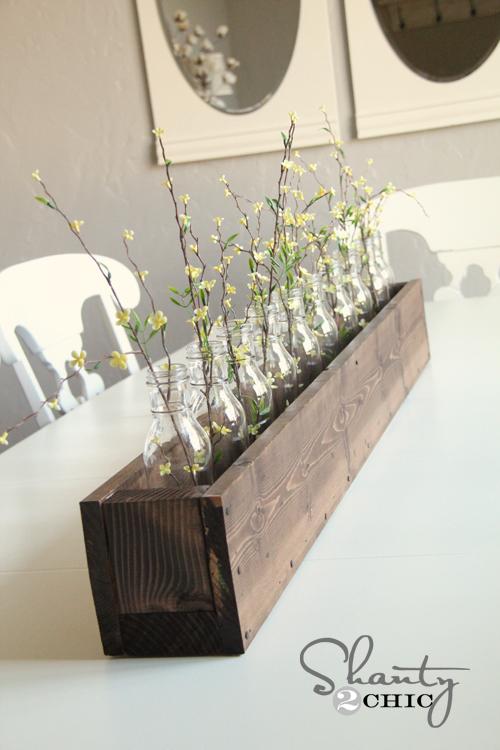 Diy planter box centerpiece shanty chic