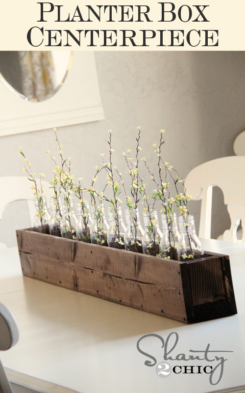 Diy planter box centerpiece shanty chic