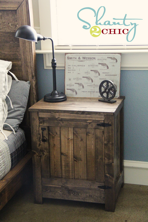 diy restoration hardware nightstand - shanty 2 chic Diy Rustic Nightstand