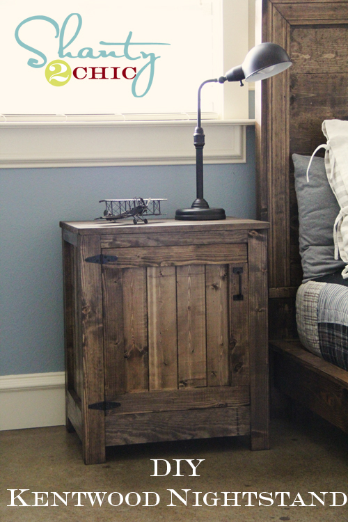Diy restoration hardware nightstand shanty 2 chic for Restoration hardware bedside tables