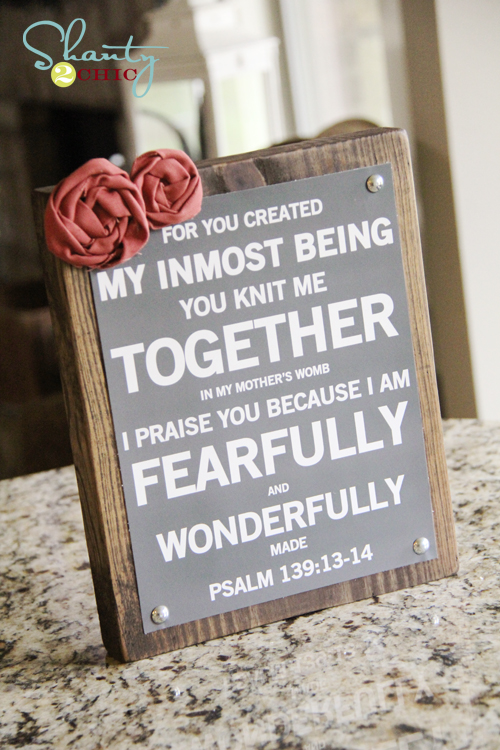 Psalm 139 Art and Free Printable! - Shanty 2 Chic