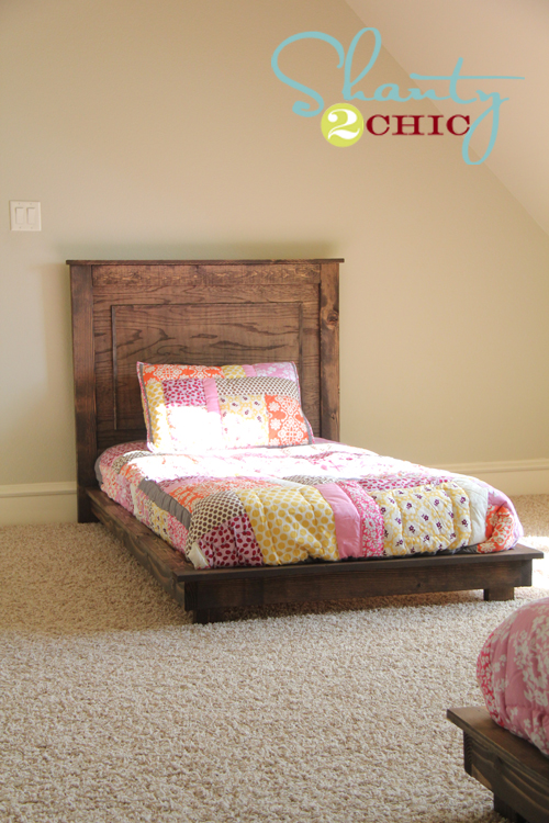 twin bed plans girl