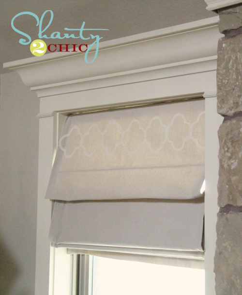 Diy Lined Roman Shades Shanty 2 Chic