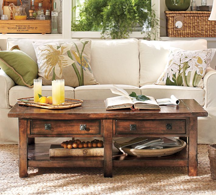 Pottery Barn Benchwright Coffee Table Shanty 2 Chic