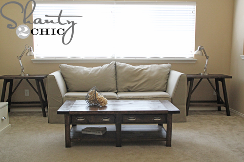 Pottery Barn Inspired Truss End Tables Shanty 2 Chic