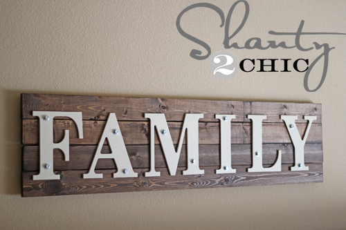 Diy Wooden Family Sign Shanty 2 Chic