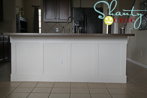 wainscoting on kitchen island diy board and batten kitchen island shanty 2 chic 6927