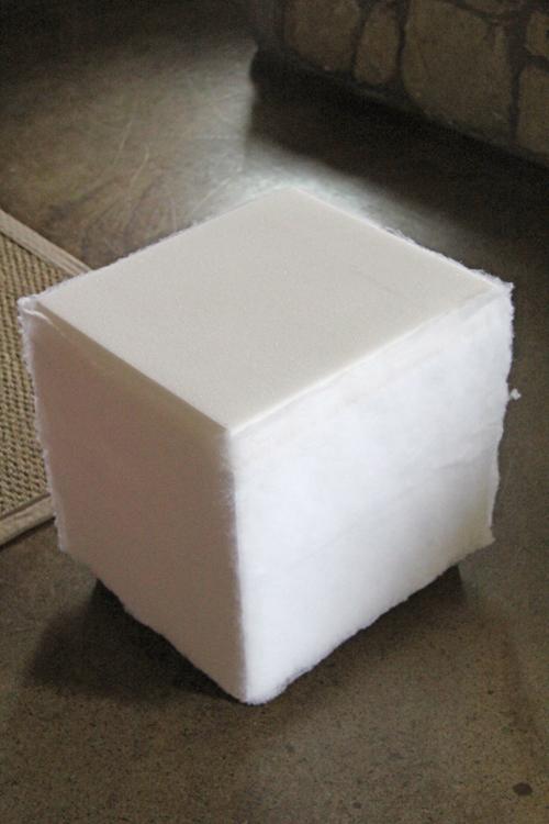DIY cube ottoman instructions