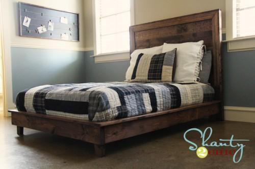 bookcase platform bed plans
