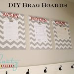$10 DIY Chevron Brag Boards