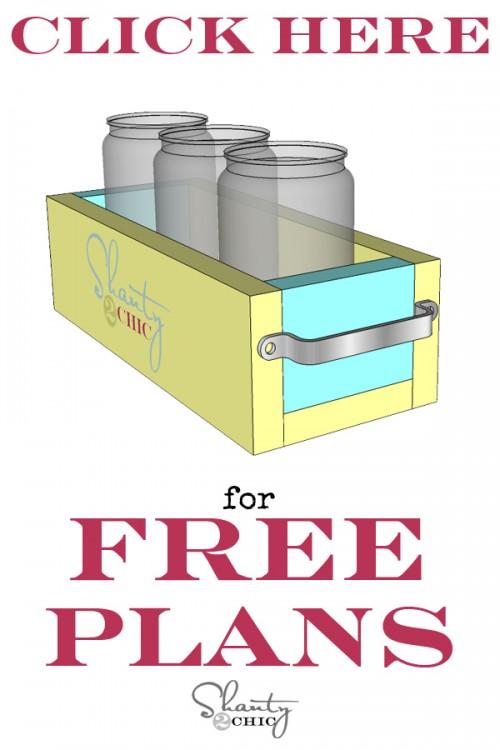 Mason Jar Planter Box Free Plans