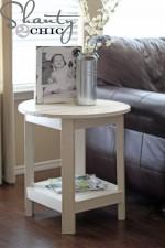 DIY Pottery Barn Inspired Benchright Side Table