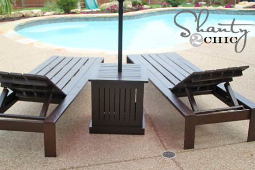 DIY outdoor patio set