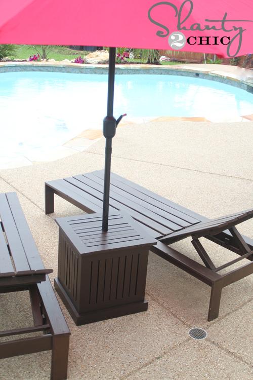 outdoor umbrella purchased at Garden Ridge