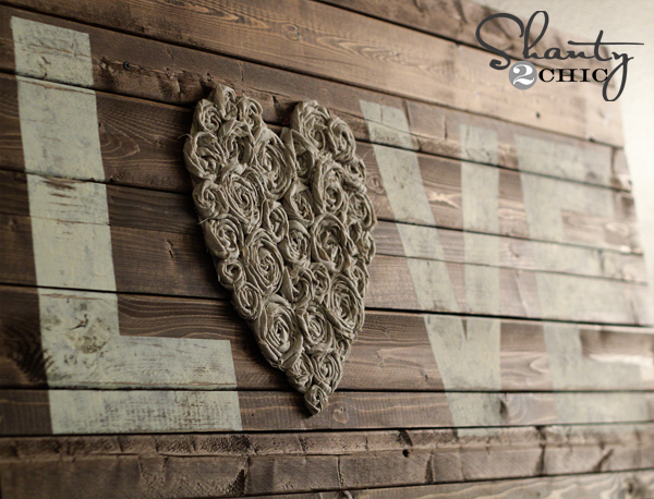 Wood Wall Art Diy diy wall art ~ love - shanty 2 chic