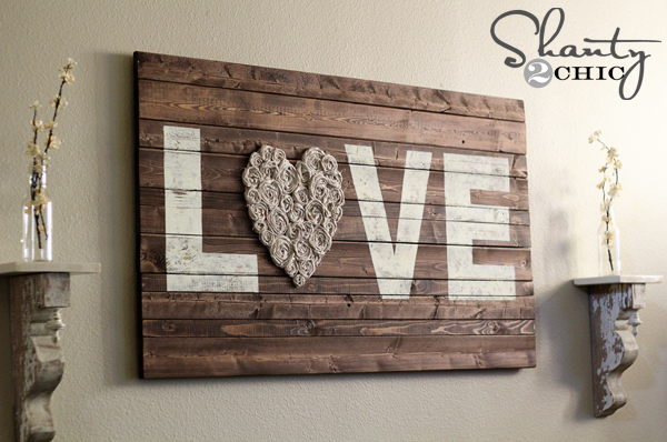 Diy Wall Decor Wood : Diy wall art love shanty chic