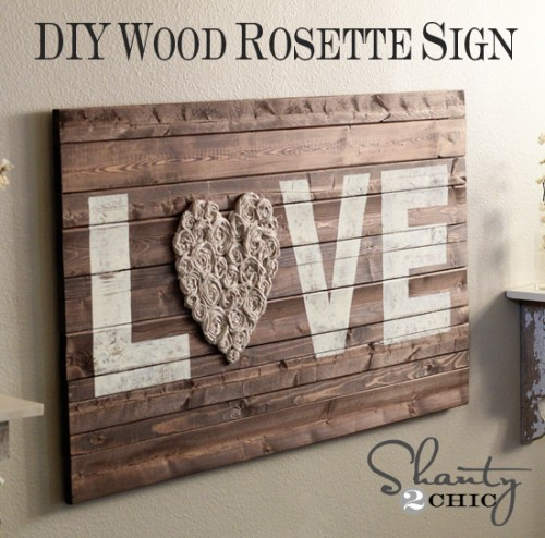 Wood Love Sign