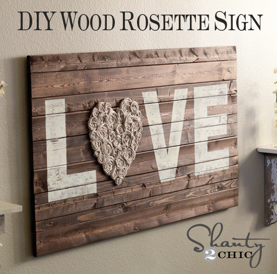 Wooden Wall Decor Diy : Diy wall art love shanty chic