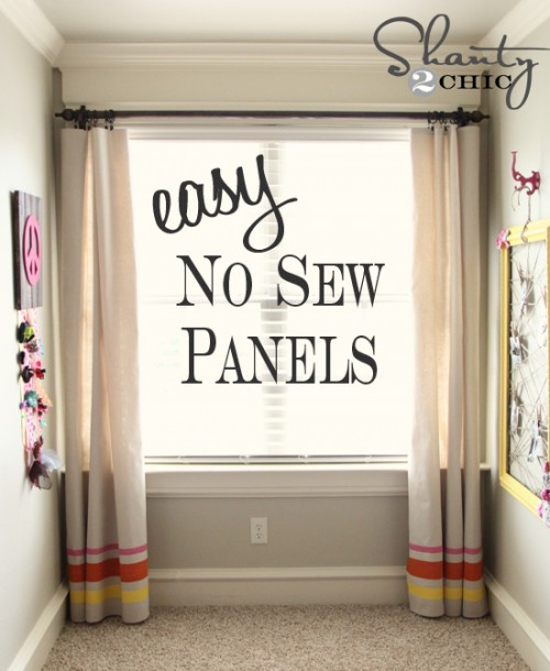 Easy No Sew Window Panels