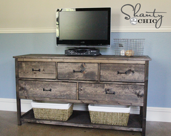 Pottery barn inspired diy dresser shanty chic