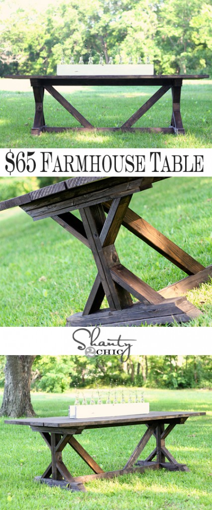 DIY Dining Table for only $65 Shanty 2 Chic