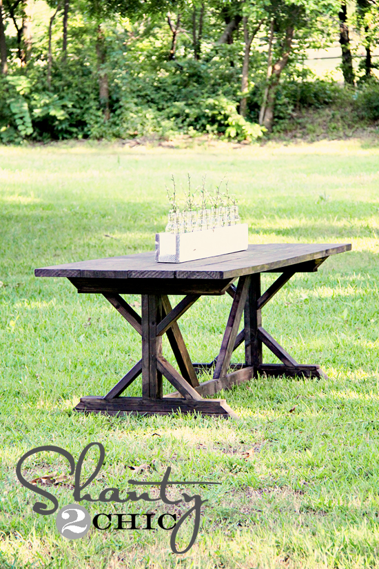 Diy dining table for only 65 shanty 2 chic for Diy outdoor farmhouse table