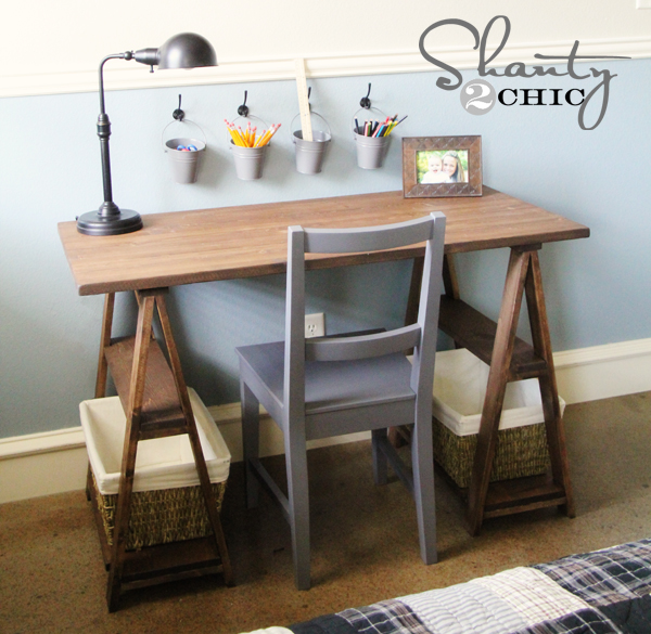 Restoration hardware diy desk shanty 2 chic Diy work desk