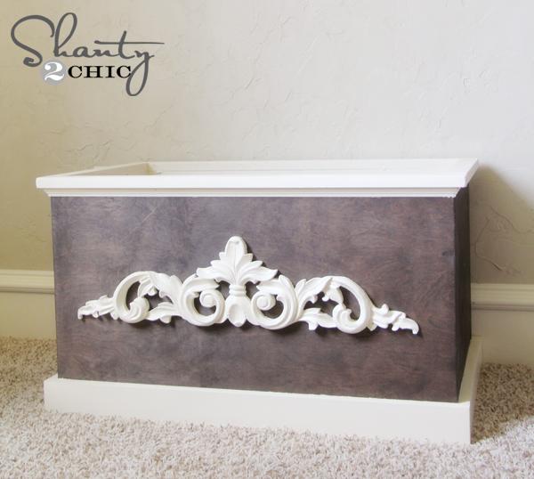 DIY Wood Toy Box or Blanket Box - Shanty 2 Chic