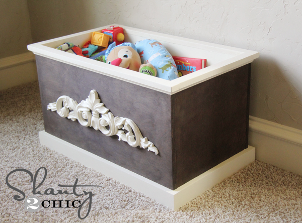 DIY Wood Toy Box or Blanket Box - Shanty 2 Chic