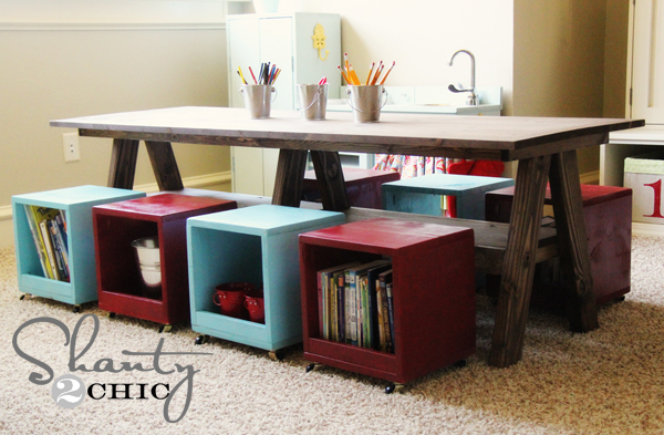 Playroom Kids Table Diy Shanty 2 Chic