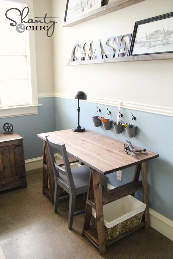 Paint colors shanty 2 chic for Diy desk decor ideas
