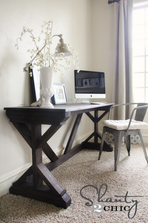 diy desk for bedroom farmhouse style shanty 2 chic