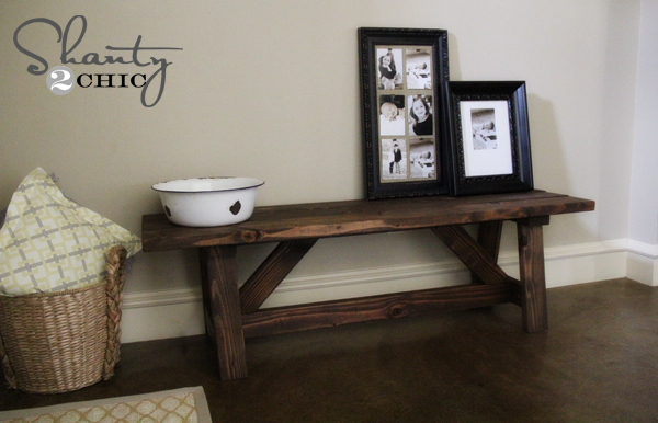 Diy Bench For The Entryway 15 Shanty 2 Chic