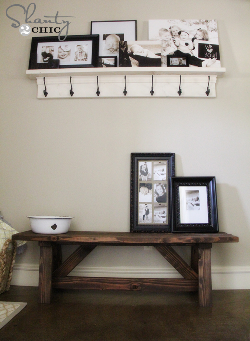 Build Foyer Bench : Diy bench for the entryway shanty chic