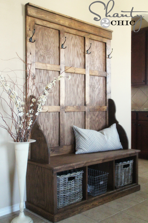 Build Foyer Bench : Shanty hall tree bench chic