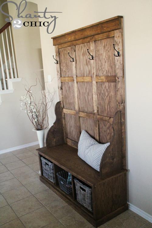 shanty hall tree bench shanty 2 chic. Black Bedroom Furniture Sets. Home Design Ideas