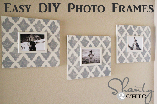 Diy Wall Art Stenciled Photo Frame Shanty 2 Chic