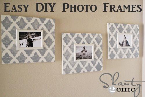 DIY Wall Art ~ Stenciled Photo Frame - Shanty 2 Chic